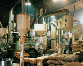 Example installation of 60 kg roaster